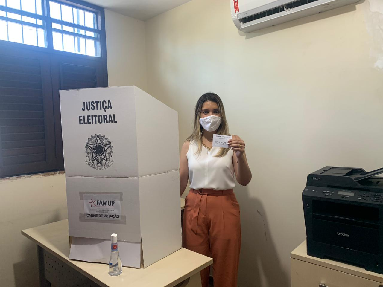 Lorena-vota_elita-FAMUP Após vencer eleições em Monteiro, Lorena é eleita uma das vice-presidentes da FAMUP