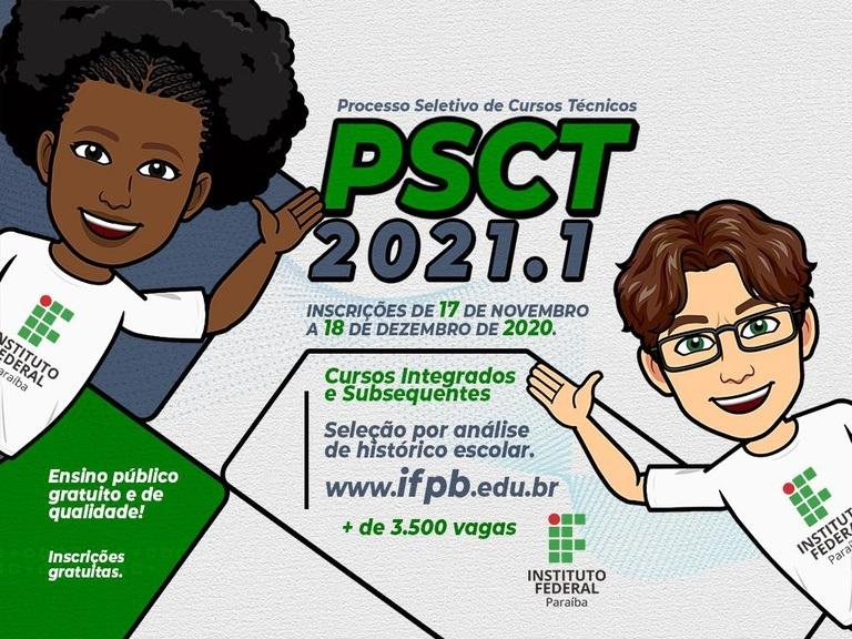 c738ff05-771c-42b2-9723-29ff4386956c PSCT 2021: IFPB inscreve para 3.690 vagas em cursos em todo o estado