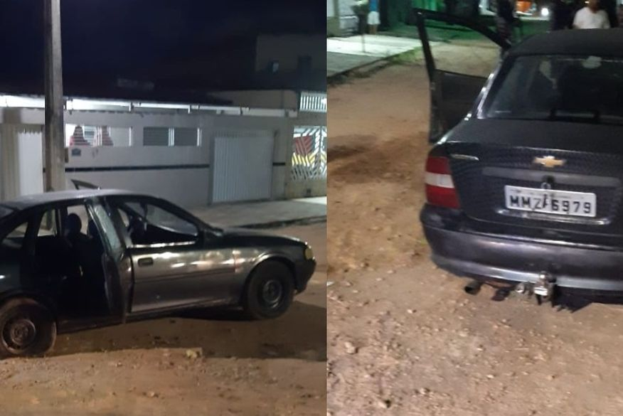 carro-abandonado-bandidos Bandidos trocam tiros com a polícia, fogem e abandonam veículo na PB