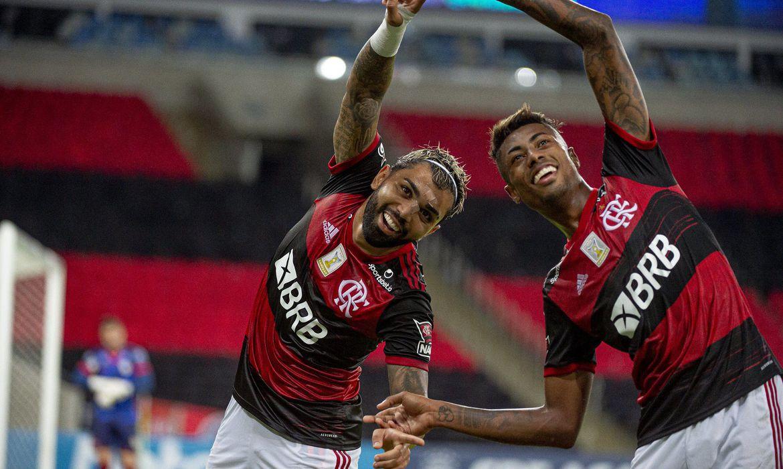 flamengo_bruno_e_gabigol Flamengo e Racing fazem primeiro duelo das oitavas da Libertadores