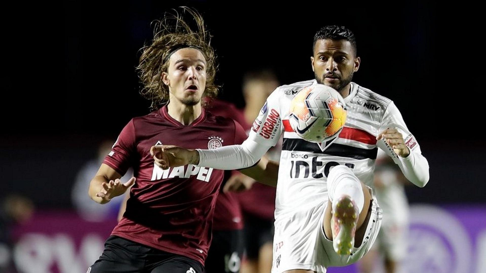 sao-paulo-lanus-sul-americana- SPFC vira sobre Lanús, mas gol nos acréscimos elimina time da Sul-Americana