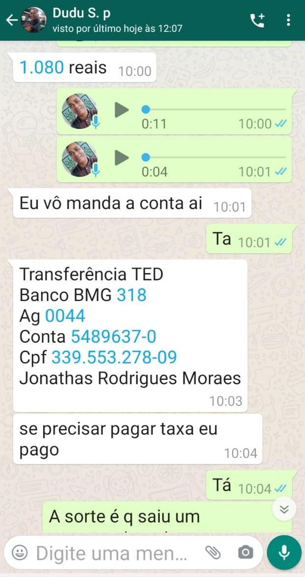 IMG-20201223-WA0039-e1608731233898 Monteirense perde mais de Mil Reais no golpe do whatsapp clonado