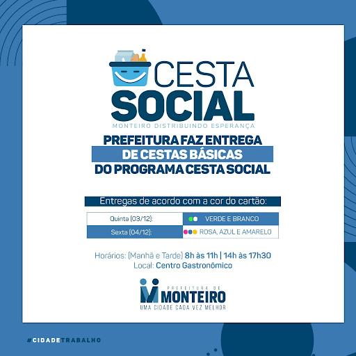 cesta-social CESTA SOCIAL: 500 famílias começam a receber a Cesta Básica a partir desta quinta-feira em Monteiro