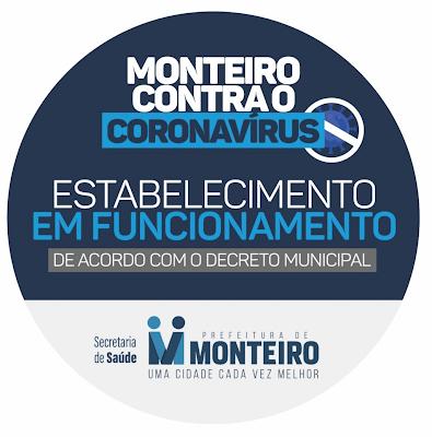 covid-monteiro Monteiro segue diretrizes do decreto estadual para comemorações de fim de ano