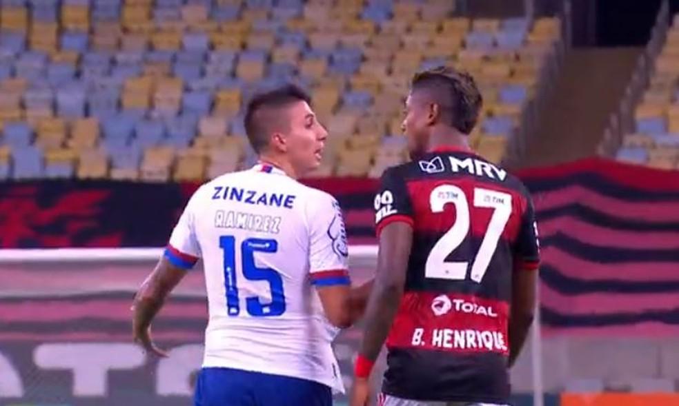 ramirez Flamengo recebe laudo de ofensa de Ramirez a Bruno Henrique e vai fazer denúncia ao STJD