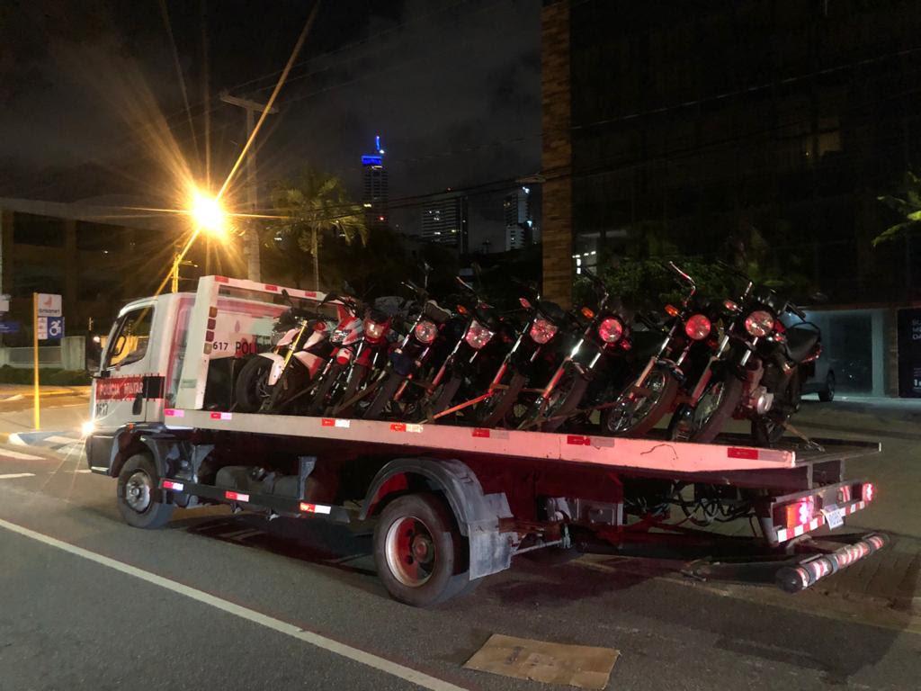 unnamed-2020-12-26T153455.357 PM apreende nove motocicletas na orla de João Pessoa