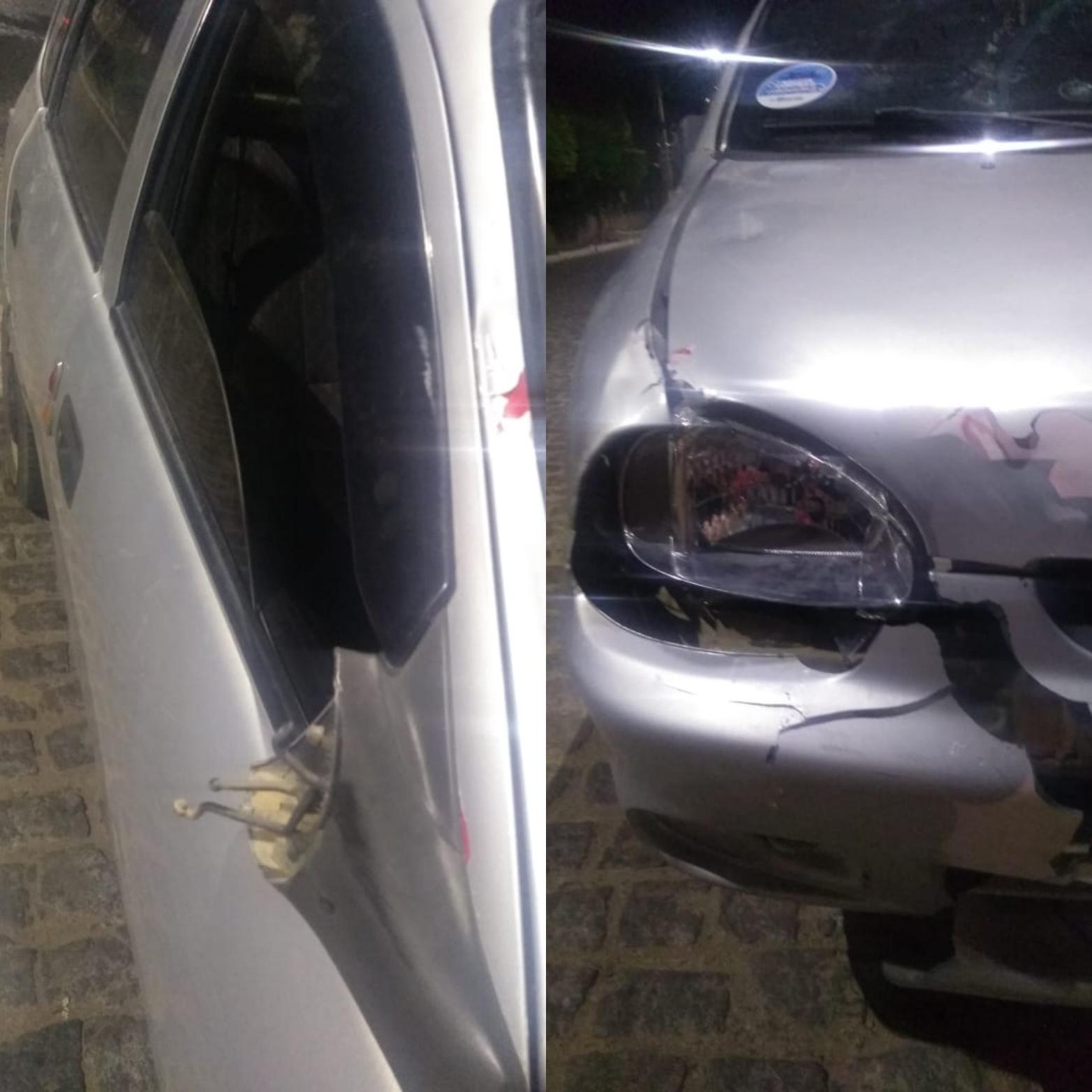 IMG_20210120_180657 Carro colide com cavalo na BR-110 em Monteiro
