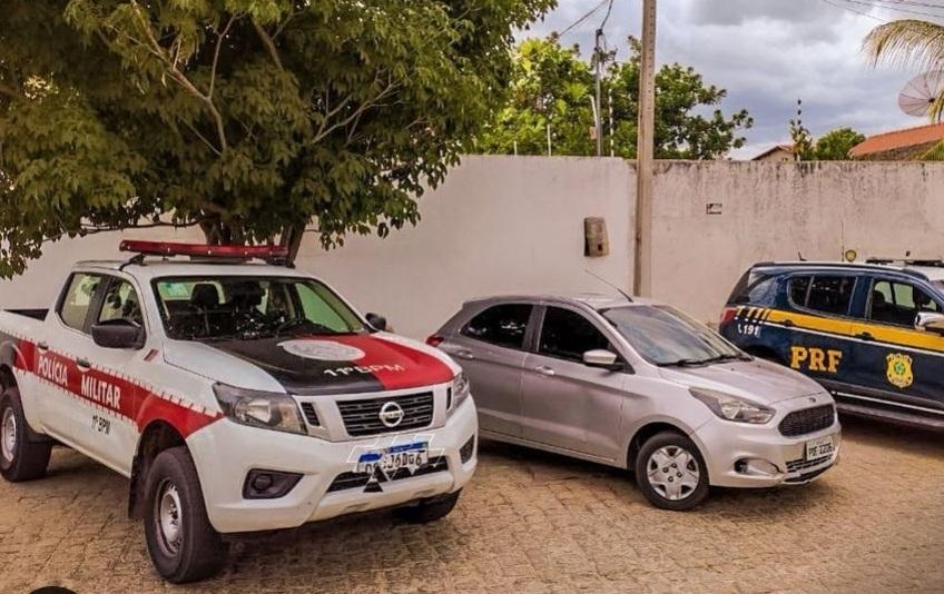 IMG_20210124_150458 Operação conjunta da PRF e Polícia Militar apreende um veículo clonado em Sumé