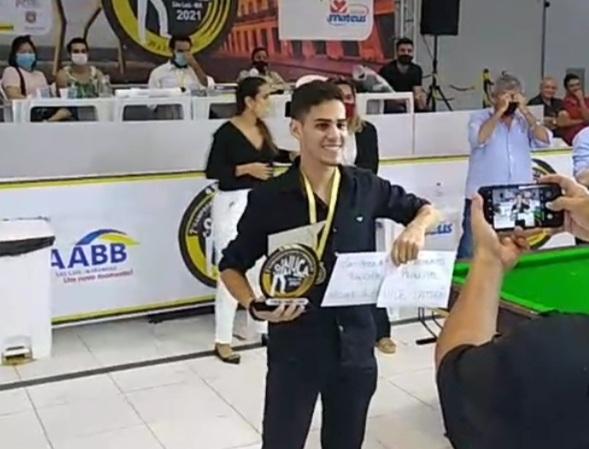 IMG_20210131_210656 Monteirense Eduardo Alexandre é vice-campeão do 7º Campeonato Norte/Nordeste de Sinuca em São Luís no Maranhão