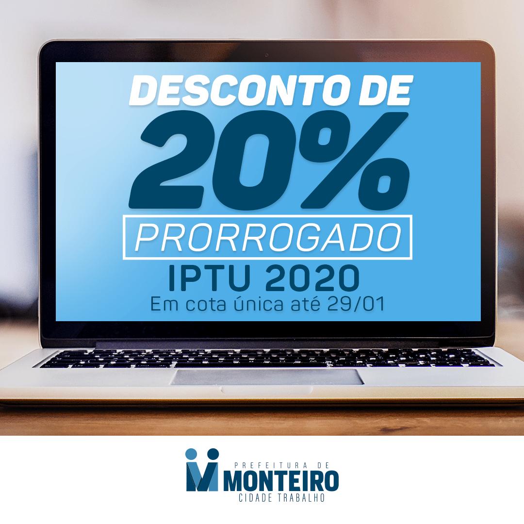 iptu-monteiro Em Monteiro: Prazo para pagamento do IPTU com desconto de 20% encerra dia 29 de janeiro