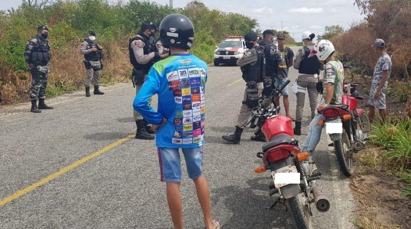 rolezinho-de-moto Polícia Militar intercepta rolezinho de motos e notifica participantes na PB