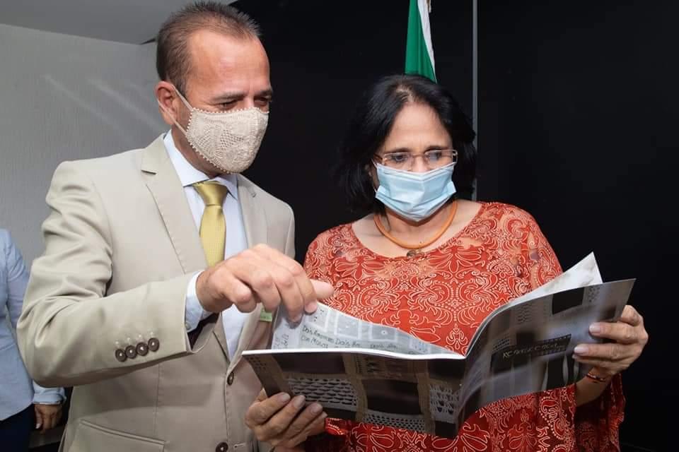 FB_IMG_1612716349790 Prefeito Márcio Leite participa de reunião com a ministra da Mulher, família e Direitos Humanos