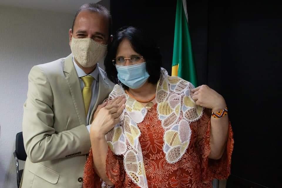 FB_IMG_1612716363370 Prefeito Márcio Leite participa de reunião com a ministra da Mulher, família e Direitos Humanos