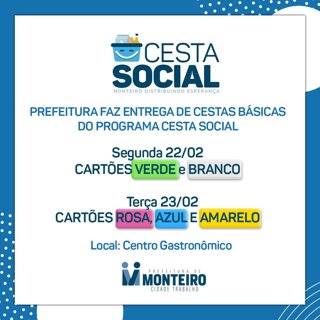 cesta-social-monteiro Programa Cesta Social, da Prefeitura de Monteiro, realiza entregas na Segunda-Feira (22)