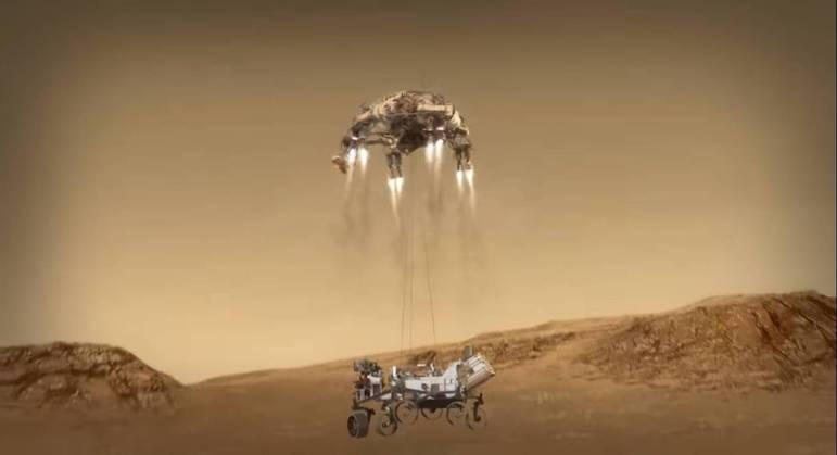 missao-mars-2020-perseverance-17022021123352339 Após 'sete minutos de terror', rover Perseverance, da Nasa, pousa com sucesso em Marte