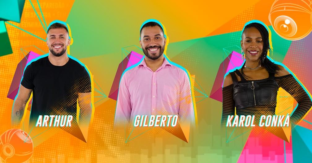 paredao Karol Conká, Gilberto e Arthur se enfrentam no quarto paredão do BBB 21