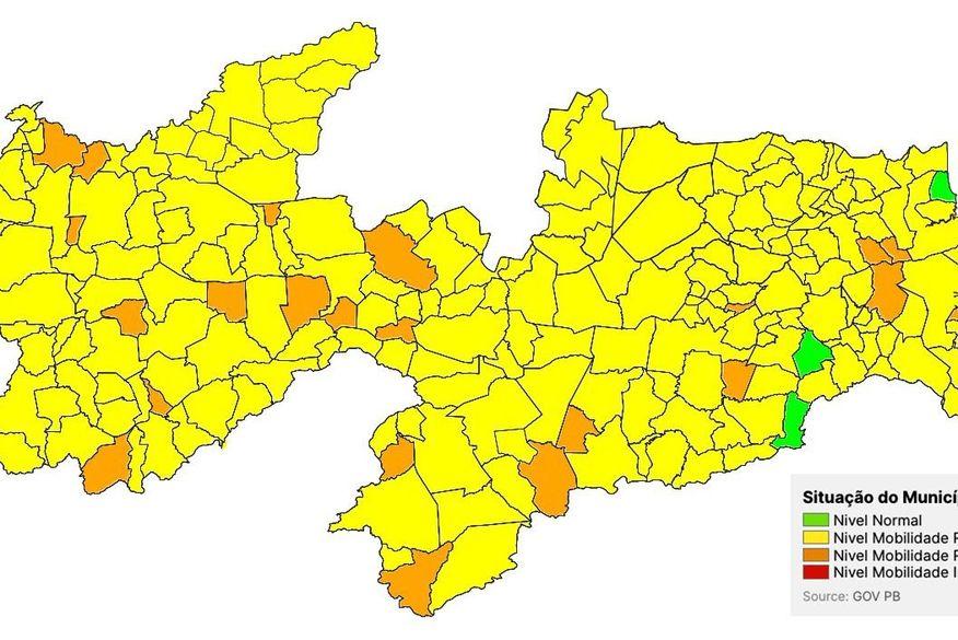 plano_novo_normal 198 cidades paraibanas classificadas como bandeira amarela e 22 municípios devem ter a mobilidade restrita no Plano Novo Normal