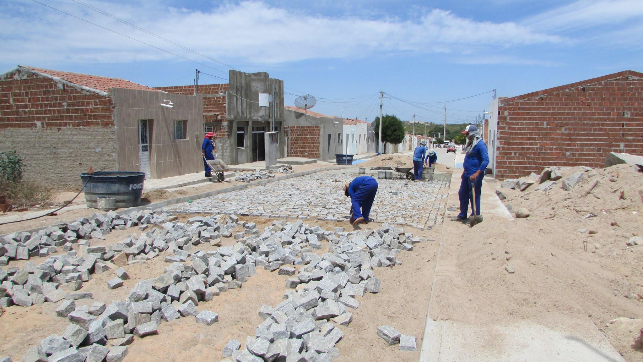 sao-joao-do-tigre-cacimbinha Em São João do Tigre: Obra de pavimentação no Distrito de Cacimbinha está em fase de conclusão