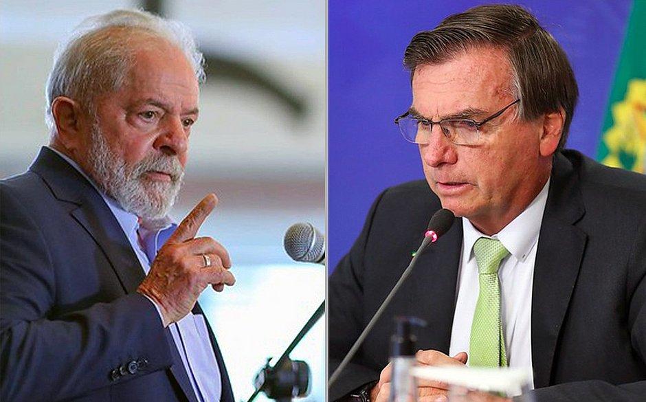 Lula-e-Bolsonaro No Nordeste, Lula vence por 55% a 19%; no Sul, Bolsonaro bateria petista por 32% a 26%
