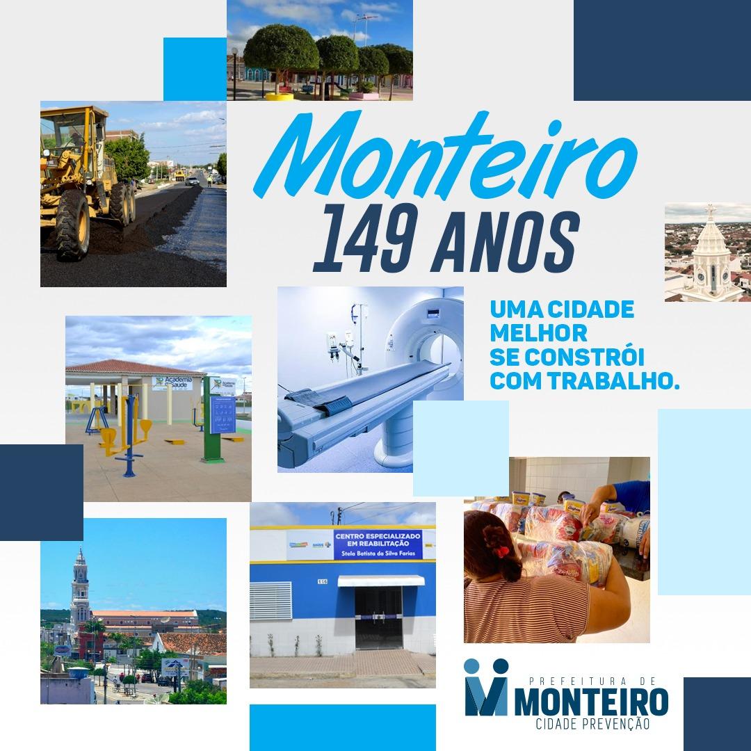 149-MONTEIRO Prefeita Anna Lorena emite mensagem sobre os 149 anos de Emancipação Política de Monteiro