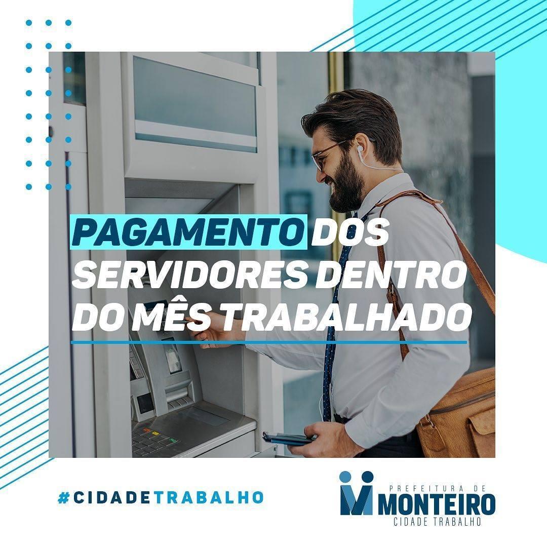 Pagamento-2 Prefeitura de Monteiro inicia pagamento do funcionalismo do mês de junho nesta terça-feira