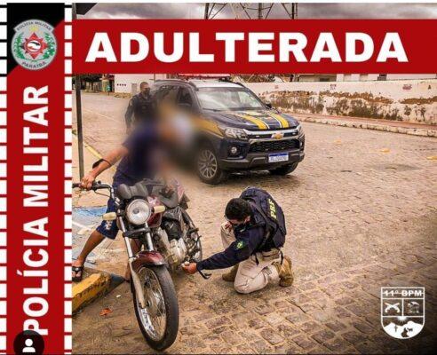 7acdd758-511c-4030-8d1e-e0fd50f6b83f-492x400 Em operação conjunta com PRF, polícia militar apreende motocicleta clonada em Monteiro