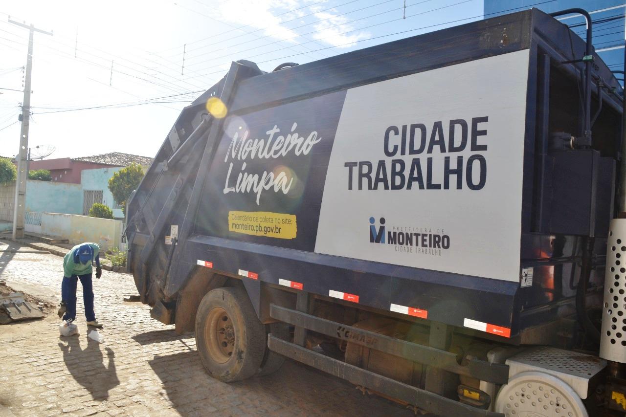 Coleta Secretaria de Infraestrutura de Monteiro readequa horário de coleta de lixo em alguns bairros, confir