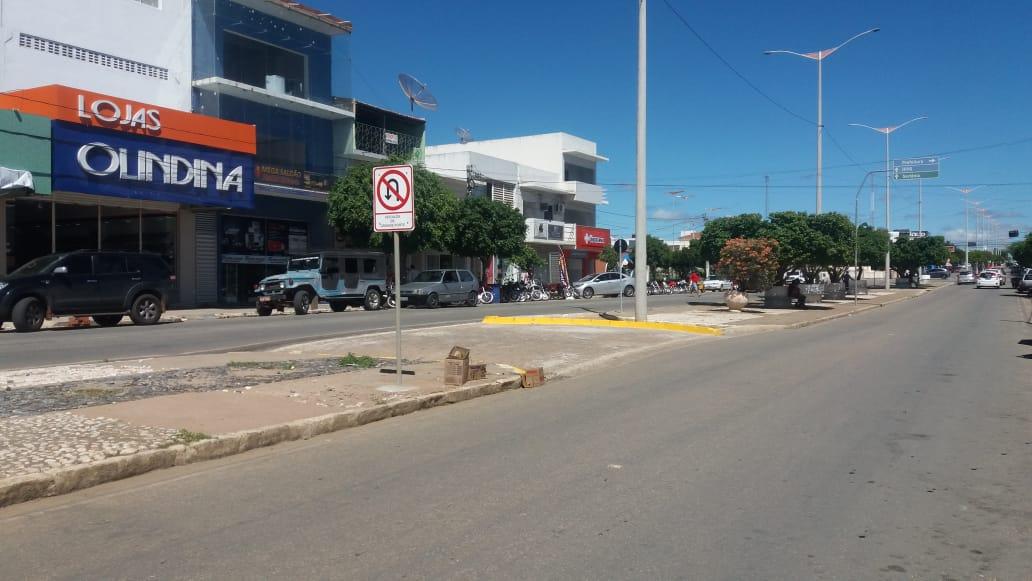 Transito-Centro-4 TRÂNSITO: MONTRAN realiza mudanças e adequações em ruas de Monteiro