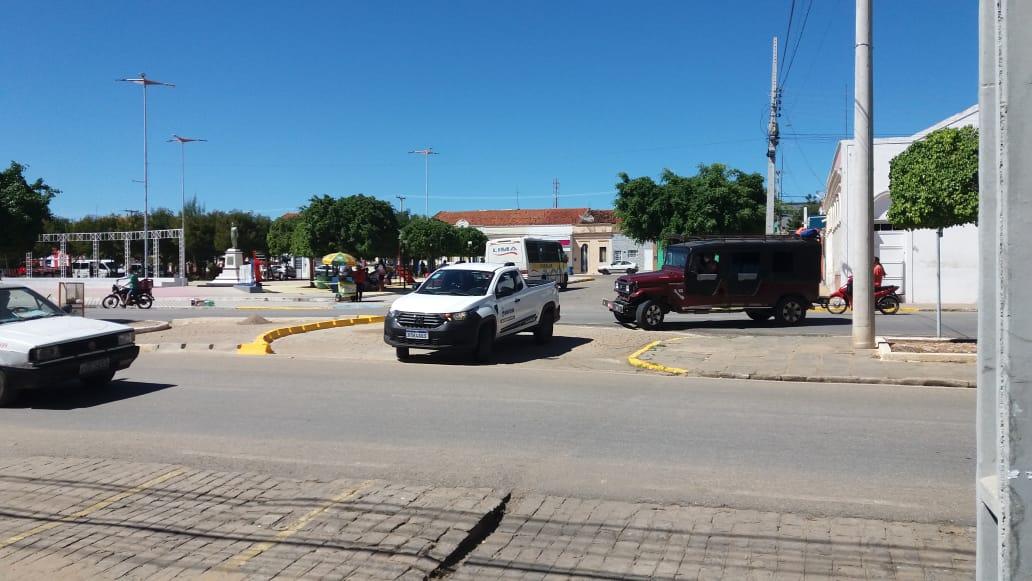 Transito-Centro-9 TRÂNSITO: MONTRAN realiza mudanças e adequações em ruas de Monteiro