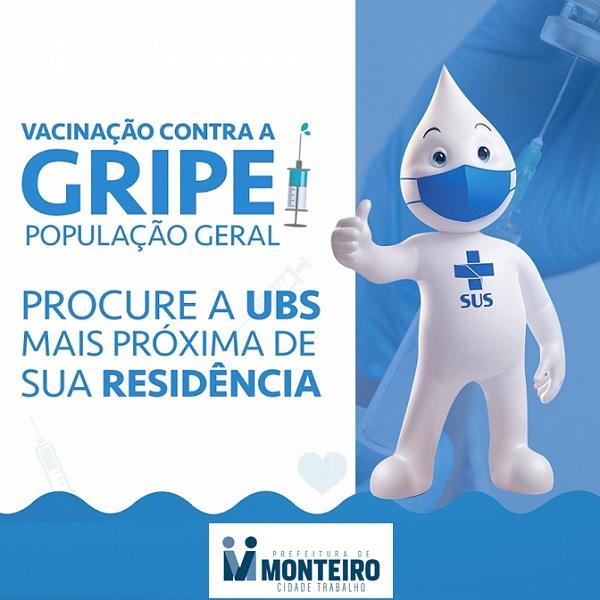 gripe-1 Secretaria de Saúde de Monteiro amplia vacinação contra a gripe para população geral
