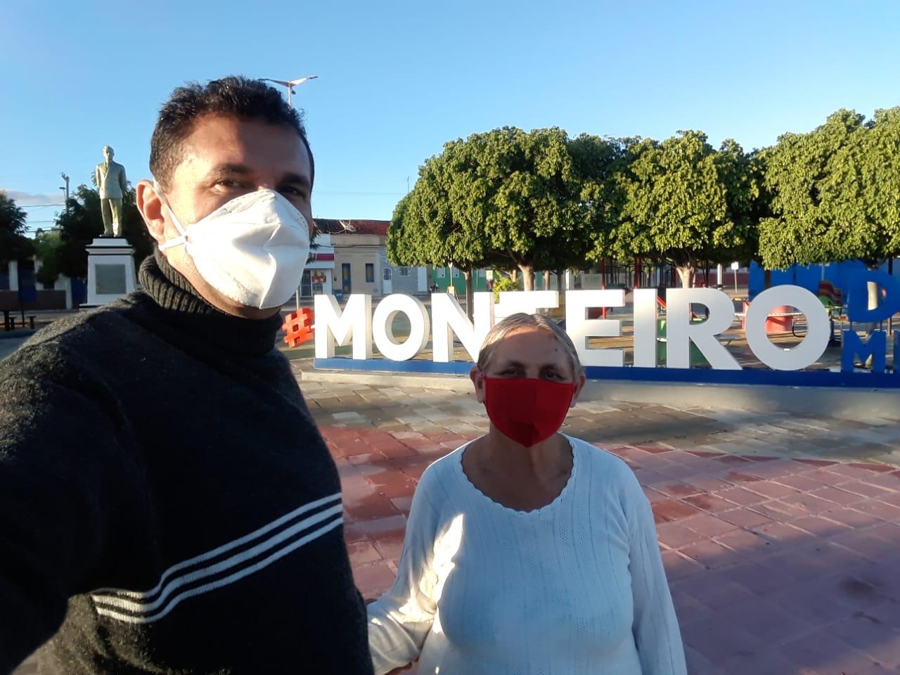 z-1-1 Por saudades da Mãe, Monteirense faz percurso de mais de 130 quilômetros de Patos a Monteiro de Bike após vacinação