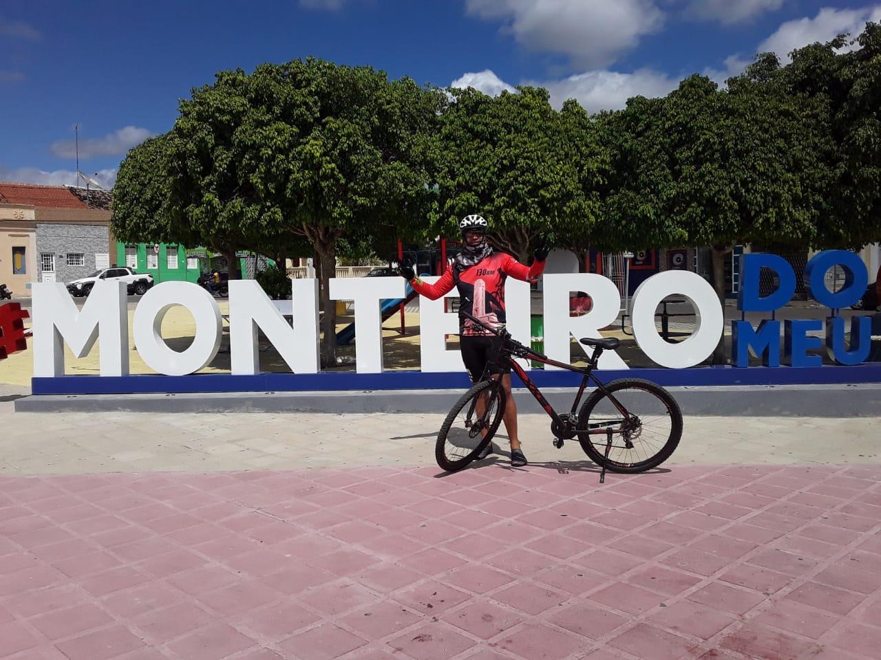 z5 Por saudades da Mãe, Monteirense faz percurso de mais de 130 quilômetros de Patos a Monteiro de Bike após vacinação