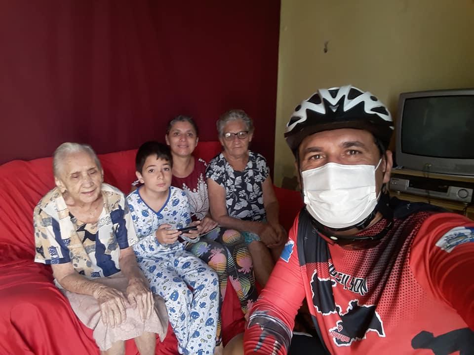 z7 Por saudades da Mãe, Monteirense faz percurso de mais de 130 quilômetros de Patos a Monteiro de Bike após vacinação