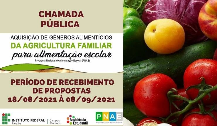 1029e9e3-d4ad-4464-aafb-befb7fcabe63 IFPB Campus Monteiro realiza chamada pública para o PNAE