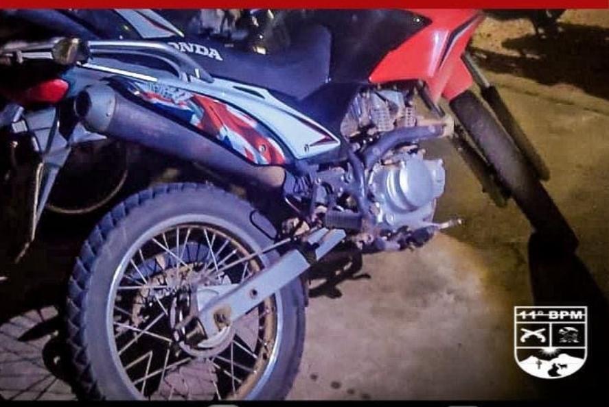 IMG_20210802_084137 Moto com Chassis Adulterado é apreendida em Monteiro