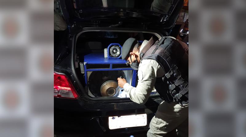 aparelhosdesom Operação Sossego: PM apreende mais seis aparelhos de som e multas chegam a R$ 20 mil por crime de poluição sonora