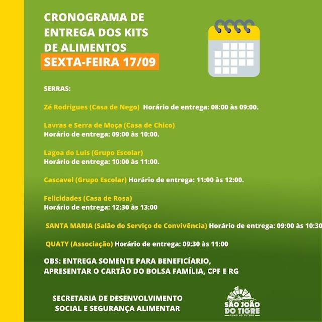 2 Prefeitura Municipal de São João do Tigre realiza a partir desta sexta mais uma entrega de castas básicas à população