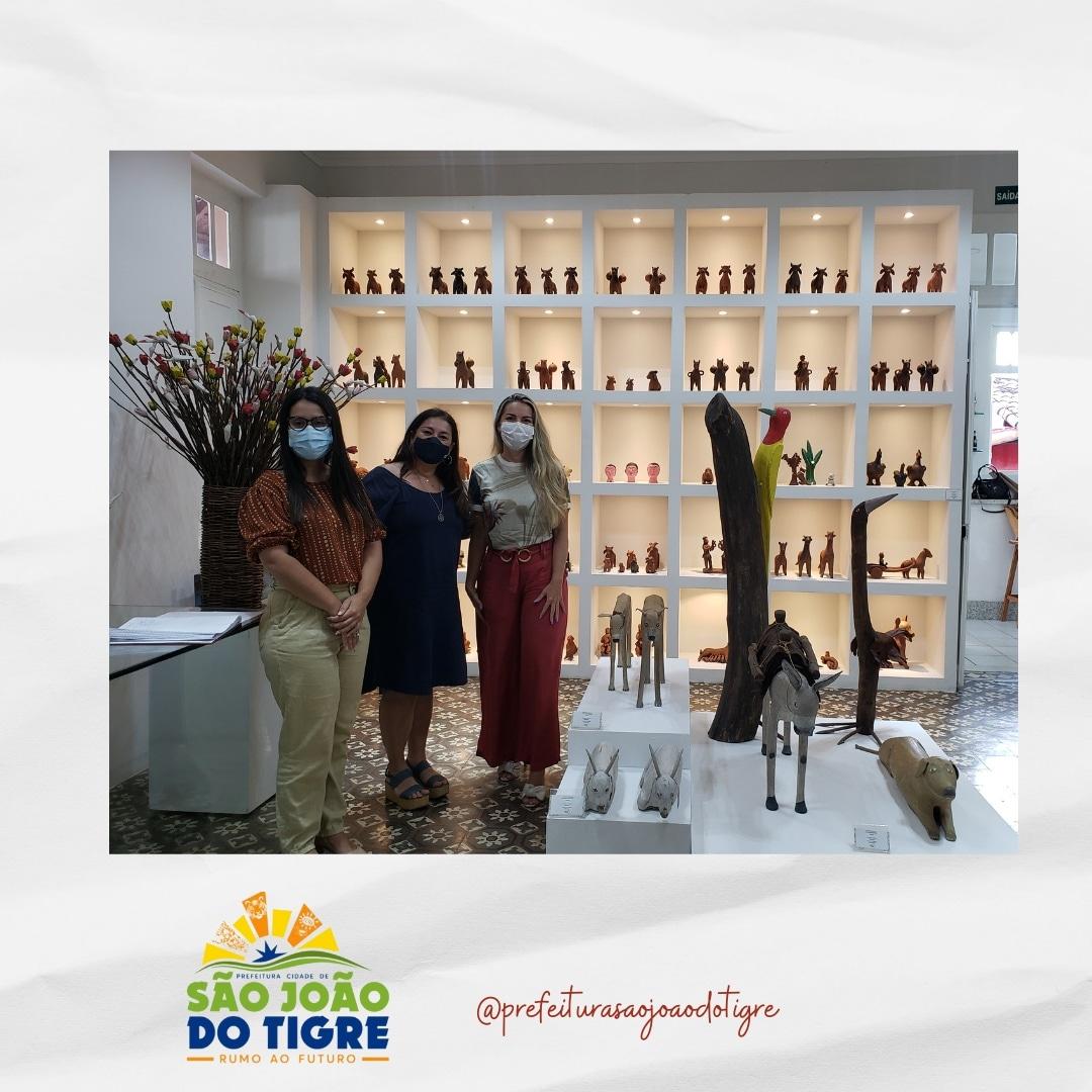 4-1-1 Secretária de Planejamento e Gestão do município de São João do Tigre, visita EMPREENDER-PB e Programa de Artesanato da Paraíba em busca de parcerias