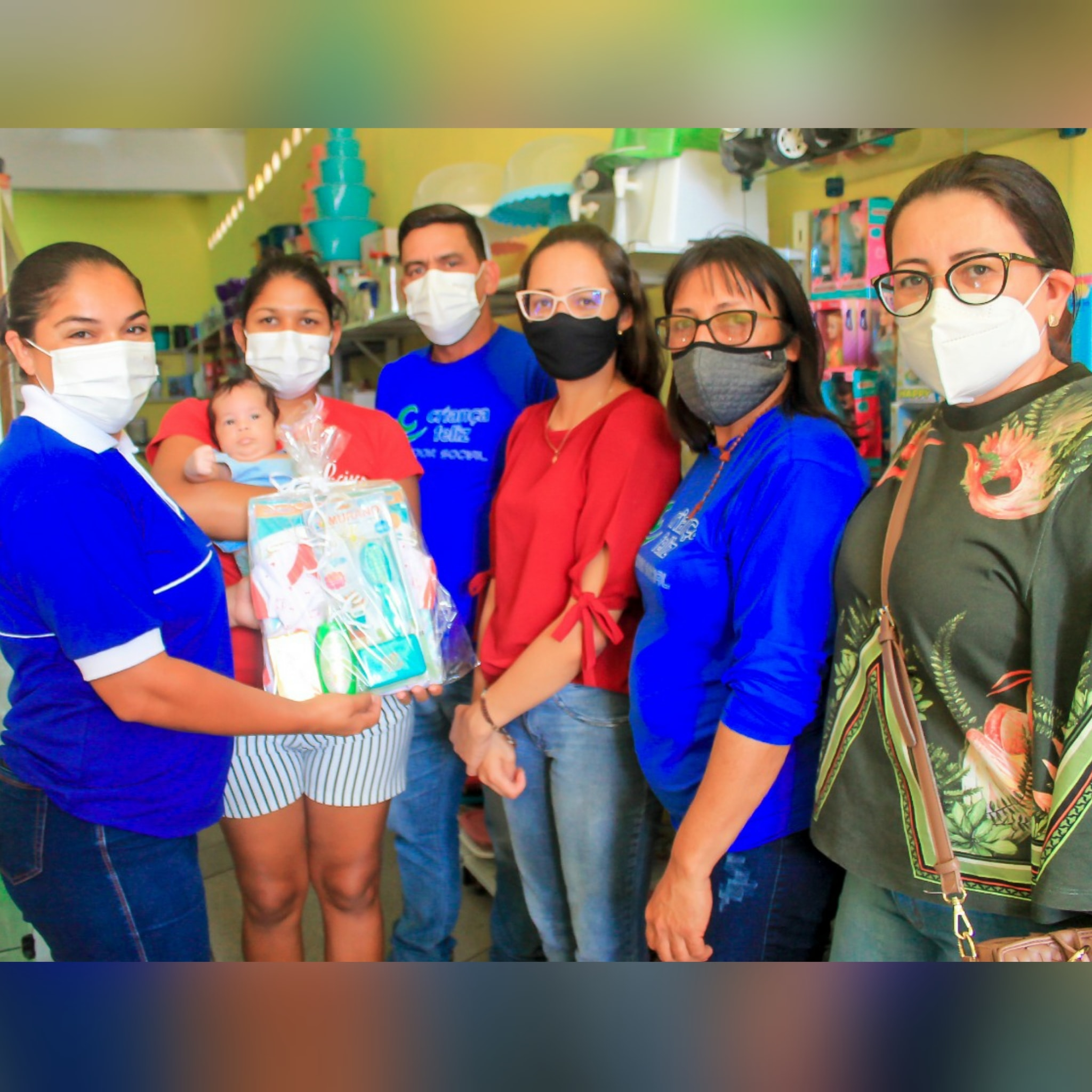 7.1 Secretaria de Desenvolvimento Social de São João do Tigre entrega de Kits de Enxoval ao grupo de gestantes que vão ter bebê no mês de Setembro