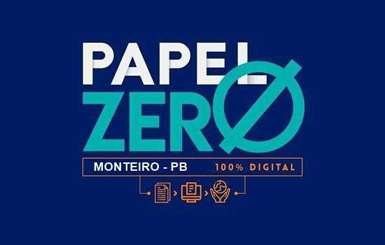 """Cidade-Digital-Papel-Zero CIDADE DIGITAL: Monteiro inicia implantação do projeto """"Cidade Digital - Papel Zero"""""""