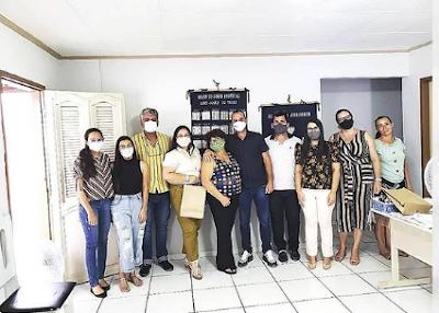 SAO-JOAO-DO-TIGRE- Prefeito Márcio Leite e secretários municipais recebem visita da Gestora do Programa do Artesanato Paraibano Marielza Rodriguez