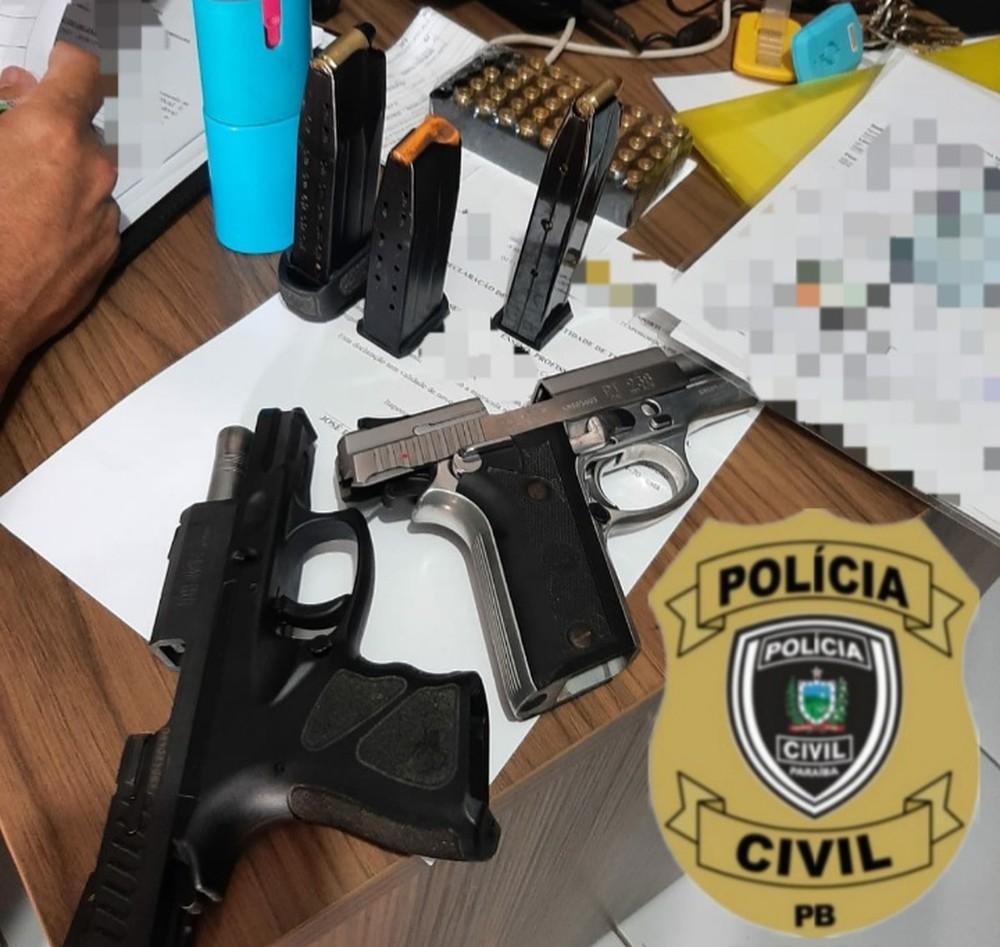 armas Operação da polícia apreende armas e munições irregulares em clube de tiros na PB