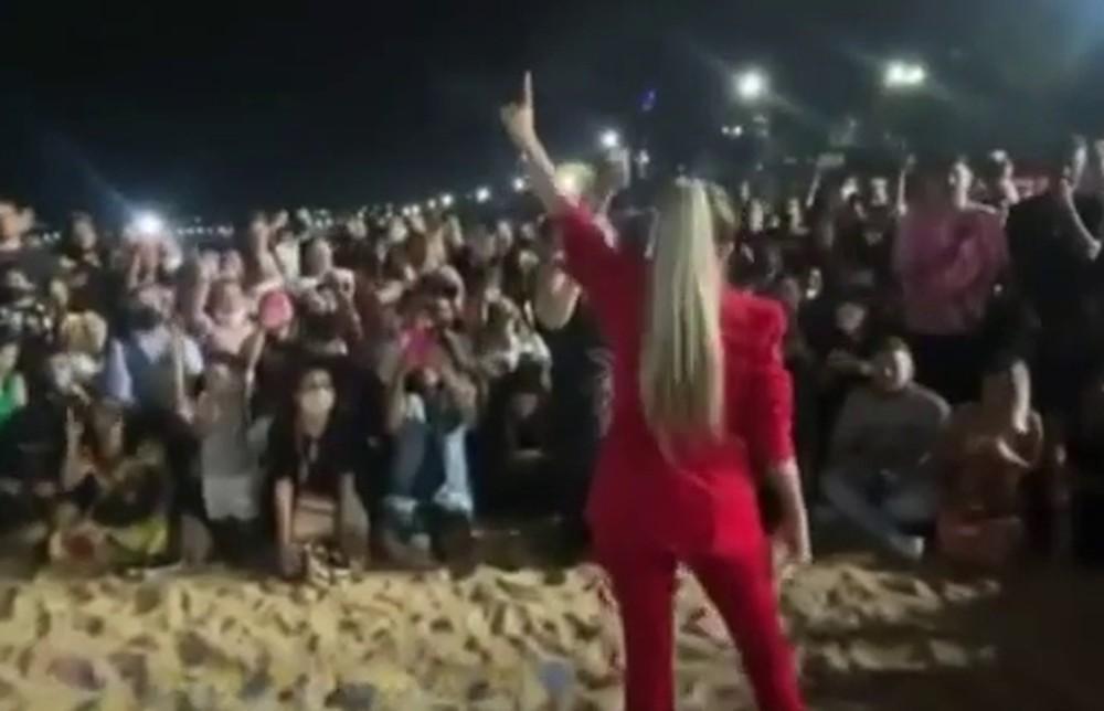 culto-encerrado2 Culto de inauguração em igreja de pastora com 2 milhões de seguidores é encerrado por aglomeração na PB