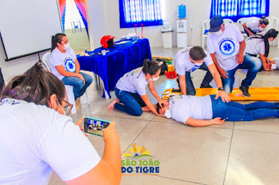 2.1 Secretaria de saúde de São João do Tigre realiza capacitação em Atendimento Pré-Hospitalar (APH) para profissionais do município