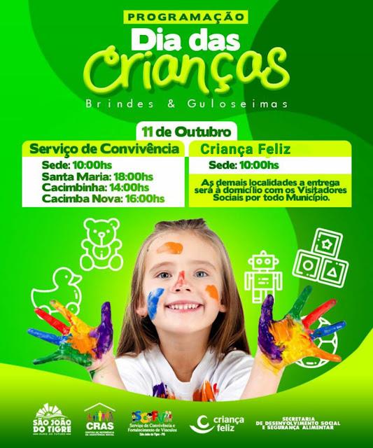 7 Prefeitura de São João do Tigre realiza grande festa em comemoração ao Dia da Criança na zona rural, distritos e sede do município