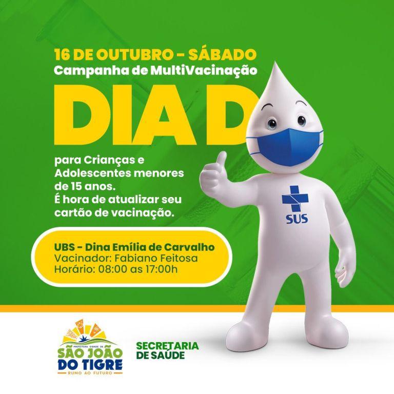 DIA-D-VACINA Secretaria de Saúde de São João do Tigre realiza DIA D de multivacinação no próximo sábado