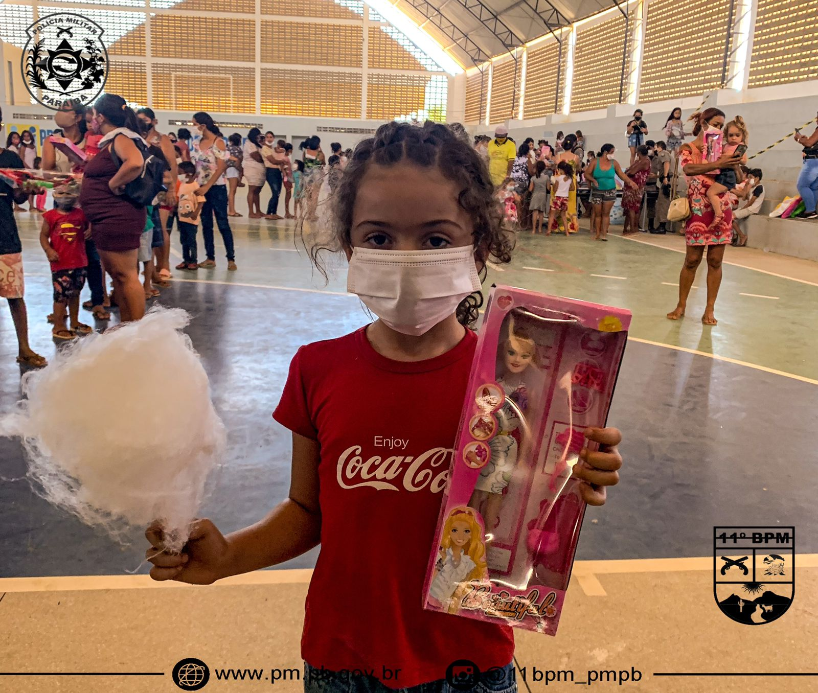 IMG-20211013-WA0375 Em Monteiro: 11º Batalhãode Polícia Militar,realiza operação criança feliz e entrega os brinquedos arrecadados