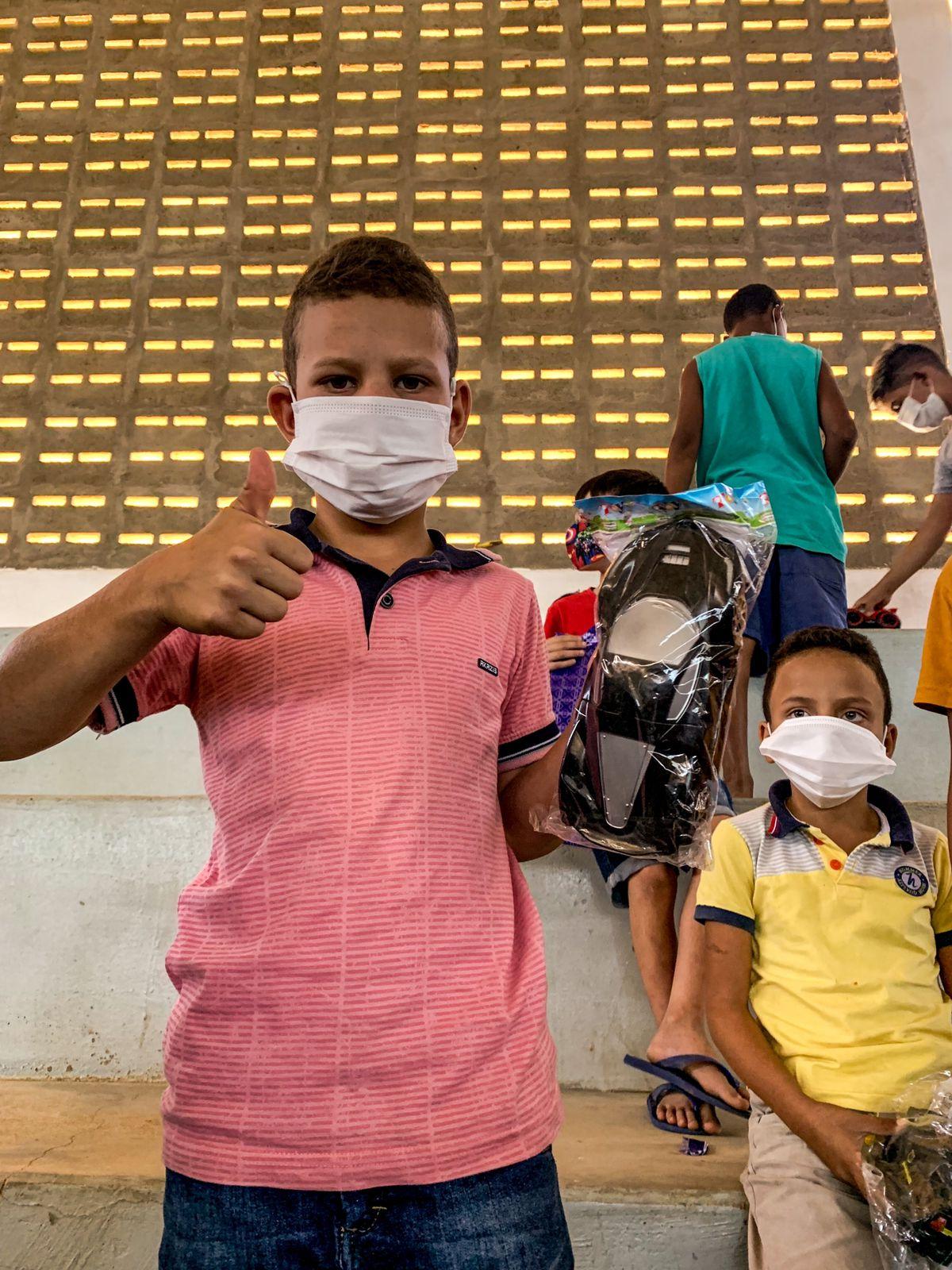 IMG-20211013-WA0380 Em Monteiro: 11º Batalhãode Polícia Militar,realiza operação criança feliz e entrega os brinquedos arrecadados